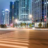 Light trails on shanghai — Foto de Stock