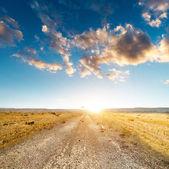 ıssız bir yolda — Stok fotoğraf