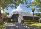 Namiot, mieszkania — Zdjęcie stockowe