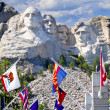 Stock Photo: Mount Rushmore With State Flags