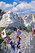 Mount Rushmore With State Flags — Stock Photo