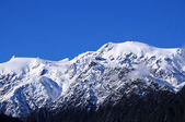 Snow covered mountains — Stock Photo