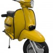 Vintage black and yellow scooter — Stock Photo #2490713