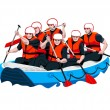 Rafting team — Stock Vector