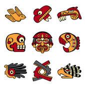 Símbolos aztecas — Vector de stock