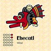 Aztec symbol Ehecatl — Stock Vector