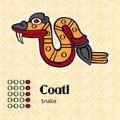 Aztec symbol Coatl — Stock Vector