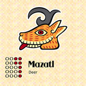 Aztec symbol Mazatl — Stock Vector