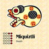 Aztec symbol Miquiztli — Stock Vector