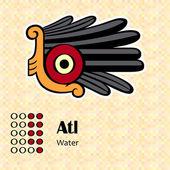 Aztec symbol Atl — Stock Vector