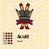 Aztec symbol Acatl — Stock Vector