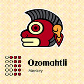 Aztec symbol Ozomahtli — Stock Vector