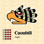 Aztec symbol Cuauhtli — Stock Vector