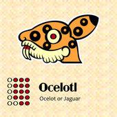 Aztec symbol Ocelotl — Stock Vector
