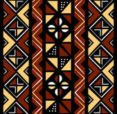 African seamless pattern — Stock Vector