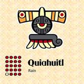 Aztec symbol Quiahuitl — Stock Vector