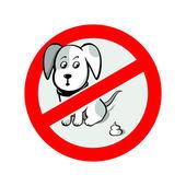 No dog pooh — Stock Vector