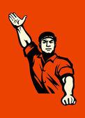 Communist worker — Stock Vector