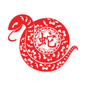 Snake Lunar symbol — Stock Vector