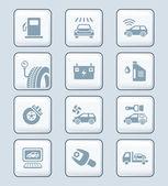 汽车服务图标 |科技系列 — 图库矢量图片