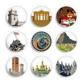 Travel destination badges   Set 4 — Stock Vector