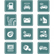 Stock Vector: Car service icons | TEAL series