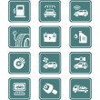 Car service icons | TEAL series - Stock Vector