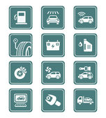 Car service icons   TEAL series — Stock Vector