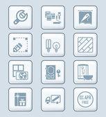 Home repair icons | TECH series — Stock Vector