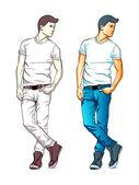 Fashion boy — Stock Vector