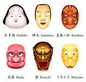Giappone maschera iv — Vettoriale Stock
