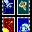 Stok Vektör: Space stamps - Set I