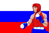 Russia boxing — Stock Vector