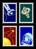 Space stamps - Set I — Vettoriale Stock