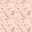 Stock Vector: Sakura seamless pattern