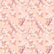 Sakura seamless pattern - Stock Vector