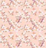 Sakura seamless pattern — Stock Vector