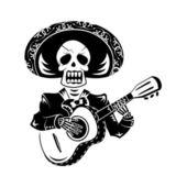 мариачи гитарист — Cтоковый вектор