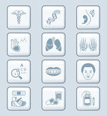 Medicine icons - TECH series — Stock Vector