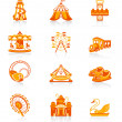 Attraction icons - JUICY series — Image vectorielle