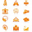 Stock Vector: Attraction icons - JUICY series