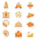 Attraction icons - JUICY series — Stock Vector