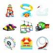 Attraction icons - Set II — Stock Vector