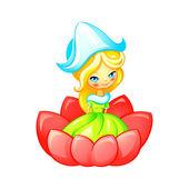 Cute fairy — Stock Vector