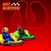 Go! Karting poster — Stock Vector