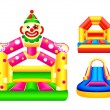 Bouncing castles — Stock Vector