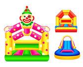 Bouncing castles — Stock Vector