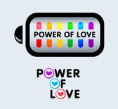 Síla lásky — Stock vektor