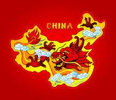 China dragon — Stock Vector