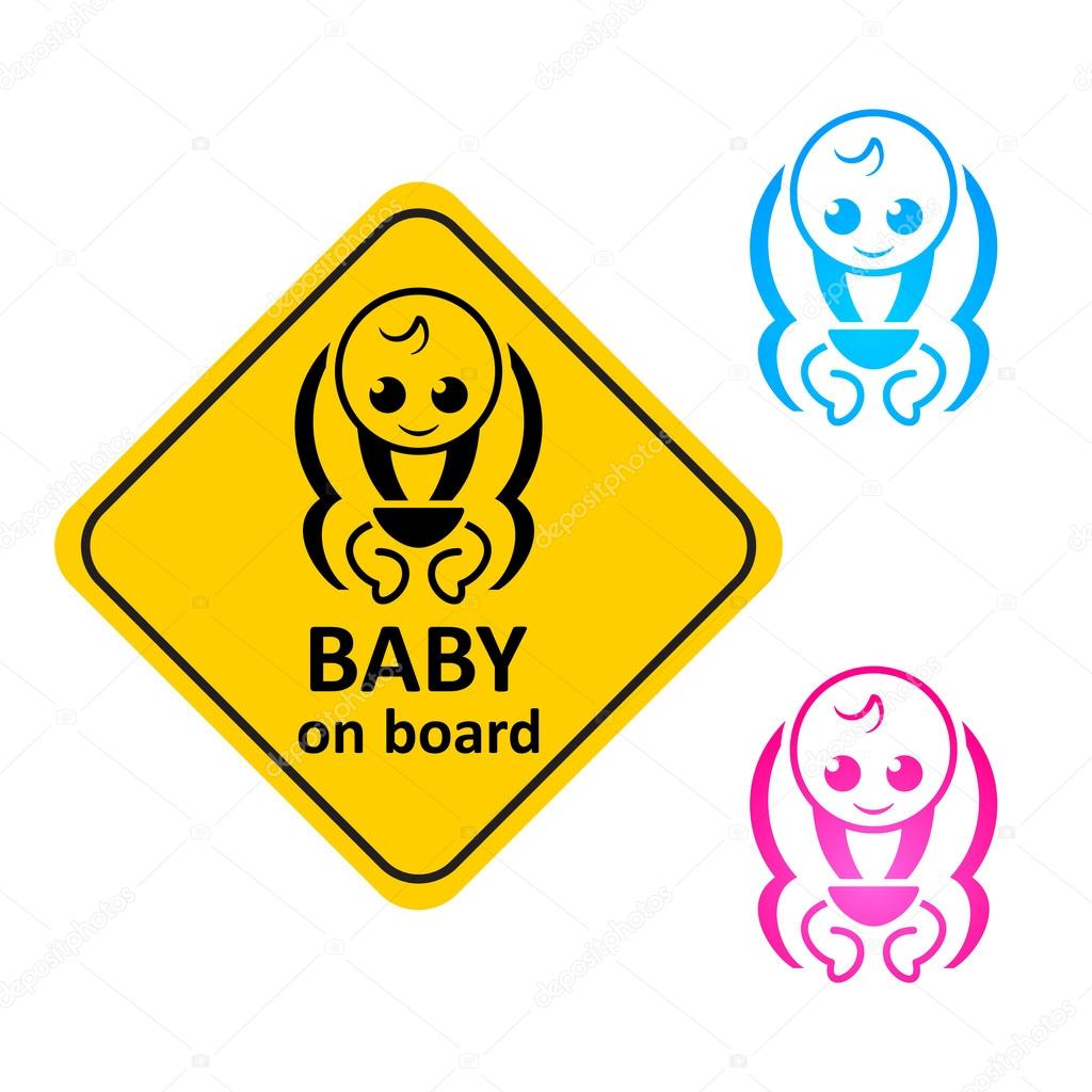 clipart baby on board-#6